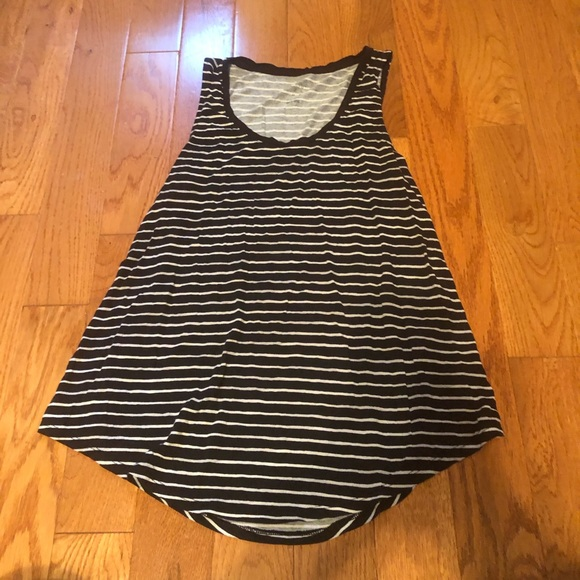a new day Tops - A New Day Target Black/White Striped Tank Top
